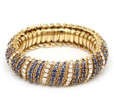 Van Cleef & Arpels | A Sapphire, Diamond and Gold Bracelet
