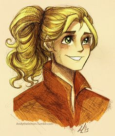There's a lot of speculation about this drawing, but let me clear this up: THIS ISN'T ANNABETH. The artist even said that this is meant to be Tahiri from Star Wars.  But...