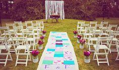 Un altar vintage y lleno de color! Flor&Fer / La Embajada