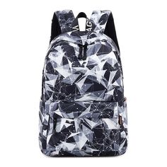 Preppy Style Inch Women Backpack Waterproof Black Geometric Printing Female Laptop Bookbag College School bag for Girls atinfor Preppy Style Inch Women Backpack Bags & Shoes Laptop Backpack, Travel Backpack, Backpack Bags, Luggage Backpack, Laptop Bags, Travel Luggage, Fashion Backpack, Shoulder Bags For School, School Bags For Girls
