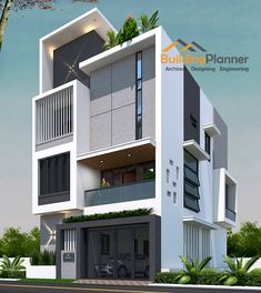 Our company is a group of expert architects and exclusive designers to deliver high quality home design. We have 10 years of dedicated experience in house planning and design. 3 Storey House Design, Duplex House Design, House Front Design, Modern Bungalow Exterior, Modern Exterior House Designs, Modern House Design, 30x50 House Plans, South Facing House, House Plans Online