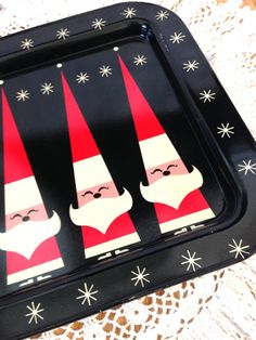 Retro Metal Christmas Serving Tray by LittleDixieVintage on Etsy