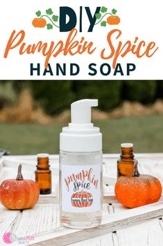 Don't miss out on this natural soap recipe! It's pumpkin scented using essential oils and is a great way to make your own soap that is chemical-free and natural! Plus, the scents of fall will be on your hands all day long! #pumpkinsoap #homemadesoap #fallsoap #handsoaprecipe Fall Essential Oils, Essential Oils Room Spray, Sweet Orange Essential Oil, Tea Tree Essential Oil, Bath Recipes, Soap Recipes, Diy Hand Soap Recipe, Aloe Vera, Pumpkin Spice
