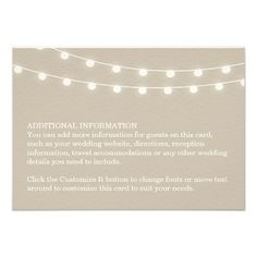 DealsSummer String Lights Wedding Insert Cardyou will get best price offer lowest prices or diccount coupone