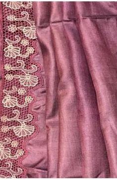 Cutwork Saree, Embroidery Saree, Tussar Silk Saree, Plain Saree, Work Sarees, Cut Work, Formal, Fabric, Pink
