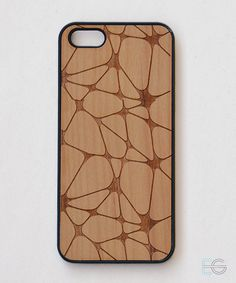 cell pattern, wooden iPhone case 4/5/6 by Experimentalgoods on Etsy