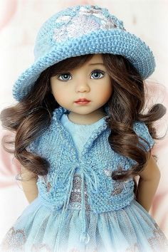 Child Doll, Girl Dolls, Baby Dolls, Cute Kids Pics, Doll Patterns Free, American Girl Clothes, Anime Girl Cute, Doll Costume, Vintage Artwork