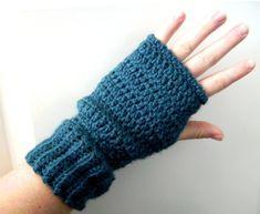 Items similar to Crochet Fingerless Gloves Pattern - Wear them three ways on Etsy Fingerless Gloves Crochet Pattern, Mittens Pattern, Knitted Gloves, Caron Yarn, Crochet Patterns For Beginners, Knitting Accessories, Knit Or Crochet, Crochet Projects, Crochet Ideas