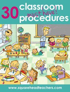 30 Most Important Classroom Procedures