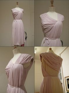 madame gres. I always find the backs of these dresses interesting, to see what she did with the other end of the fabric!