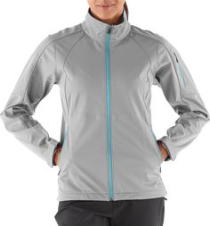REI Mistral Jkt - Bonded soft-shell fabric has a weather-resistant, soft feel, brushed backing that retains warmth; this breathable fabric lets you push the pace without overheating  Fabric blocks wind to 60 mph,  4-way stretch. Heat press stitch detail and custom trim