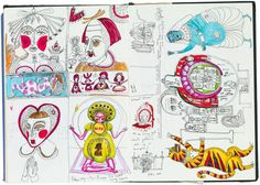 Sketchbook Grayson Perry Map of world holy places - From treasured childhood notebooks to drawing with his daughter, Perry's sketchbooks are the place where the artist learns if an idea is 'a goer or a dud' Art History Timeline, Art History Major, Art History Memes, Art History Lessons, History Tattoos, History For Kids, History Books, History Facts, Grayson Perry