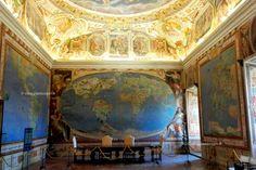 Sala dei Mappamondi a Palazzo Farnese, Caprarola, itinerario nella #Tuscia