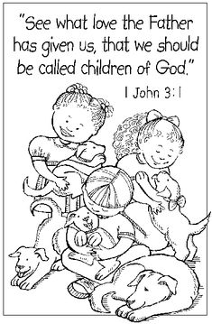 john 316 coloring pages  COLORING PAGE JOHN 3 16  Free Coloring