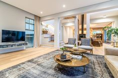 This Stellenbosch family home is satisfyingly modern, but also an oasis of tranquillity in a […] Living Area, Living Spaces, Narrow Staircase, Glass Boxes, Open Plan Living, Plan Design, Old Houses, Contemporary, Modern