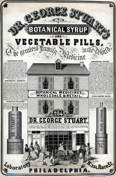 Dr George Stuart's Botanical Medicines, 1849. (Library Co of Philadelphia.) #history #medical