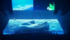 Two hundred drones, a digital LED floor and a flying yellow Ferrari were among the visual tricks used by Willo Perron in the production of Drake's tour Drake Concert, Concert Stage Design, Architectural Engineering, Visual Aesthetics, Summer Pool, Stage Set, Concert, Art