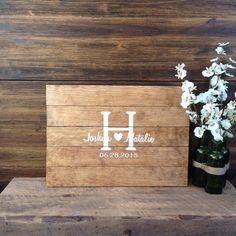 Wedding Guest Book Wood Guest Book Rustic by TheRusticEarth