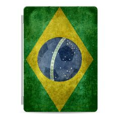 Flag of Brazil - vintage version with soccer ball - iPad Cover / Case (160 BRL) ❤ liked on Polyvore featuring accessories, tech accessories, ipad cover / case, apple ipad cover case, ipad cover case, apple ipad case, ipad cases and ipad sleeve case