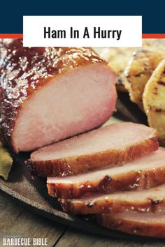 Ham in a Hurry - A non-traditional ham recipe made with pork loin that you can cure in 4 days and smoke in 2 hours. Bbq Ham Recipes, Smoked Chicken Recipes, Traeger Recipes, Grilling Recipes, Bbq Pork, Pork Ham, Grilled Pork Loin, Smoking Recipes, Smoked Ham