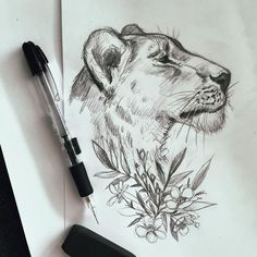 Image result for female lion tattoo
