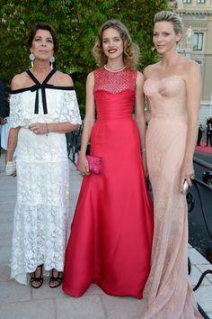 Fabulously Spotted: Charlene, Princess Of Monaco Wearing Atelier Versace - 2013 Love Ball - http://www.becauseiamfabulous.com/2013/07/charlene-princess-of-monaco-wearing-atelier-versace-2013-love-ball/