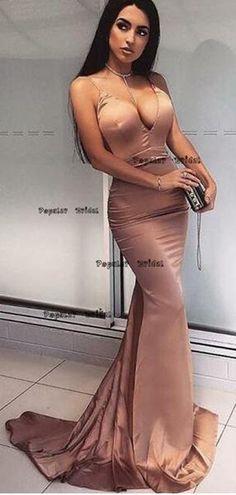 Custom Made Splendid Prom Dress Mermaid Mermaid Spaghetti Straps Backless Sweep Train Blush Prom Dress Prom Dresses Online, Cheap Prom Dresses, Sexy Dresses, Dress Online, Party Dresses, Fashion Dresses, Gowns Online, Bride Dresses, Dresses Uk