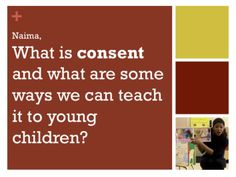 Teaching Consent to Young Children