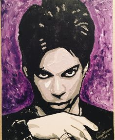 Custom art from finger painting, hand brush painting to spray paint background to see more of my. The Artist Prince, Roger Nelson, Paint Background, Prince Rogers Nelson, Finger Painting, Purple Rain, Custom Art, Pop Art, Disney Characters