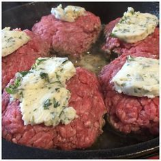 It's Keto Friendly and Low carb too! Great idea. Compound butter on top of burger!