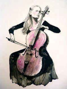 виолончелист по thecatspaw