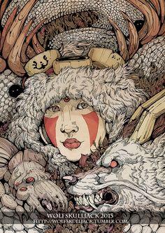The Ghibli Girl by WolfSkullJack.deviantart.com on @DeviantArt