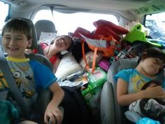 Carload of smiles - heading to Put-in-Bay for the summer! Via Alison Cowen