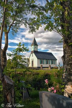 Church in Iceland ~ Gorgeous setting~❥