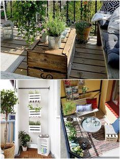 muebles reciclados para terraza