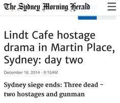 Sydney siege ends Our World, Sydney, Drama, Dramas, Drama Theater