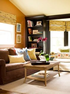 Decorating a living room has never been easier with inspiration from these gorgeous spaces. Discover living room color ideas and smart living room decor tips that will make your space beautiful and livable. Living Room Decor Brown Couch, Living Room Decor Tips, Living Room Colors, My Living Room, Home And Living, Living Room Designs, Living Room Furniture, Living Spaces, Cozy Family Rooms