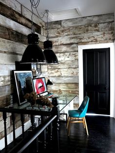 the beauty of solitude - Black brick wall / glossy black floor