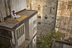 Getting lost on a roof. Image © Wahid Adnan. Gallery - 10 Finalists Nominated for the Art of Building Photographer of the Year Award - 2
