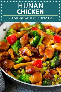 This hunan chicken is thinly sliced chicken breast with mixed vegetables in a savory and spicy sauce. A remake of the restaurant favorite! Chinese Vegetables, Mixed Vegetables, Chicken And Vegetables, Veggies, Kfc, Chinese Chicken Stir Fry, Szechuan Chicken, Slow Cooker, Crockpot