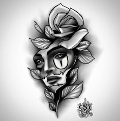 dennistattoo (@dennisolayantattoo) • Fotos y videos de Instagram - MyKingList.com Lotus Tattoo Design, Angel Tattoo Designs, Flower Tattoo Designs, Joker Face Tattoo, Skull Girl Tattoo, Rose Tattoos, Black Tattoos, Diamond Tattoos, Flower Tattoo Drawings