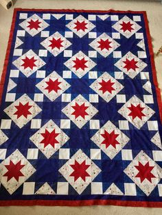 Cozy Northern Star Quilt Pattern Gallery Northern Star Quilt Pattern - This Cozy Northern Star Quilt Pattern Gallery photos was upload on March, 4 2020 by admin. Here latest Northern Star Qui. Flag Quilt, Patriotic Quilts, Star Quilt Blocks, Patriotic Crafts, Star Quilts, Quilting Projects, Quilting Designs, Patchwork Quilt Patterns, Quilting Patterns