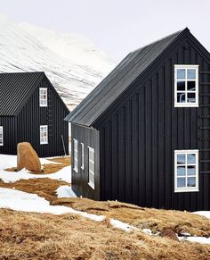 black painted house