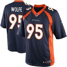 Nike Limited Derek Wolfe Navy Blue Men's Jersey - Denver Broncos #95 NFL Alternate Nfl Denver Broncos, Cincinnati Bengals, Pittsburgh Steelers, Packers Memes, Nike Elite, Elite Game, Nfl Season, Nike Nfl, Nfl Fans
