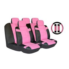 Unique Two-tone PU Car Seat Covers Universal Fit