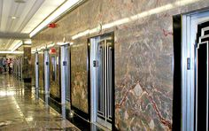 Art Deco elevators in the Empire State Building (Photo: Wikimedia CC)