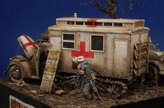 """""""Crosses in the Mud"""" Diorama in 1/35 by modeler Alberto Bertoni. Master Miniatures"""