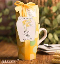 Polka Dot Mug with Earl Grey Tea