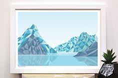Milford Sound Nouvelle-Zélande Art Print A2 par BridgetHallDesign