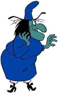 """Sharp enough to split a hare? EE HEHEHEHEHEHEHEHEEEEE!!!!!""        Witch Hazel from Bugs Bunny"